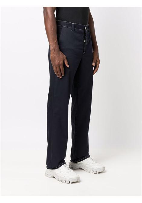 Pantaloni dritti con applicazione in blu scuro - uomo SUNNEI | SNW1MT01APT1004501