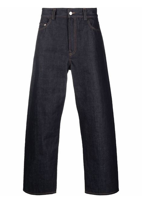 High-waisted wide leg jeans in dark blue - men  SUNNEI | SNW1MT02APTF050S06