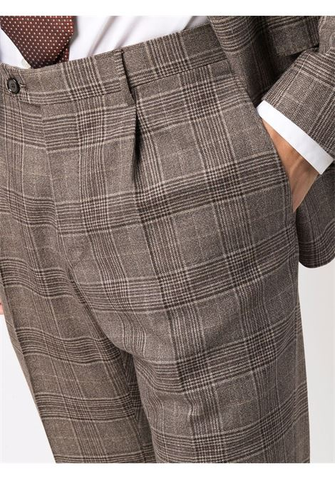 Brown checked single-breasted suit - men  TAGLIATORE | 2SVS26B11390028M1206