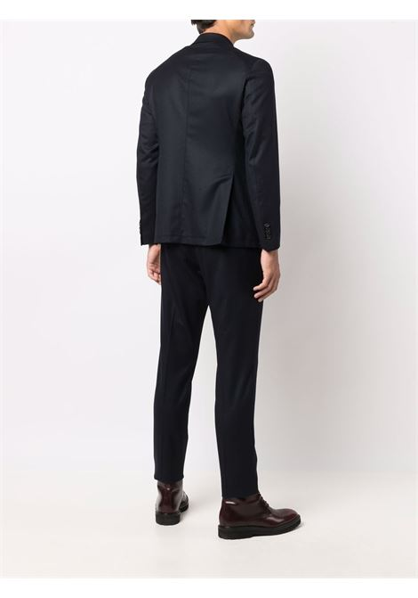 Button-front two-piece tailored suit in navy blue - men  TAGLIATORE | ADERRICK26K14070046B3401
