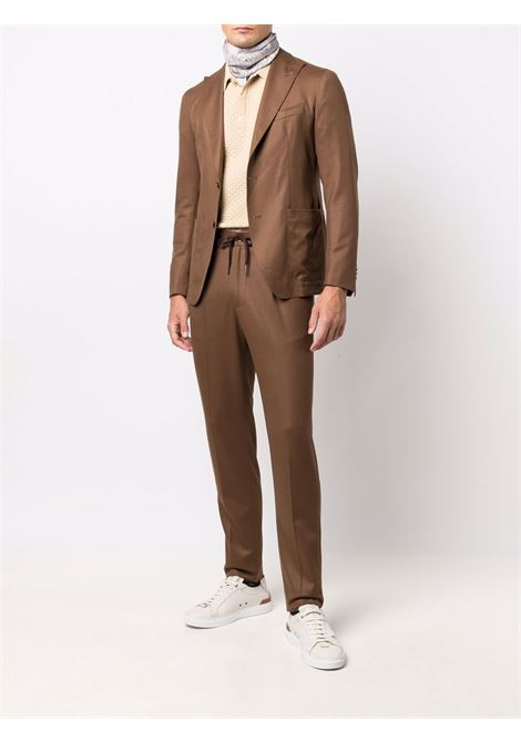Button-front two-piece tailored suit in brown - men  TAGLIATORE | ADERRICK26K14070046K3404