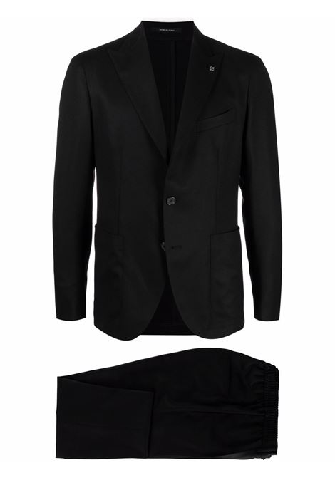 Button-front two-piece tailored suit in black - men  TAGLIATORE | ADERRICK26K14070046N3402