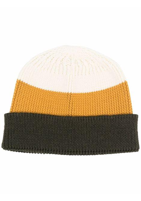 Berretto con design color-block in bianco, giallo e verde - uomo TAGLIATORE | C23LA3SVPWI21053VQX