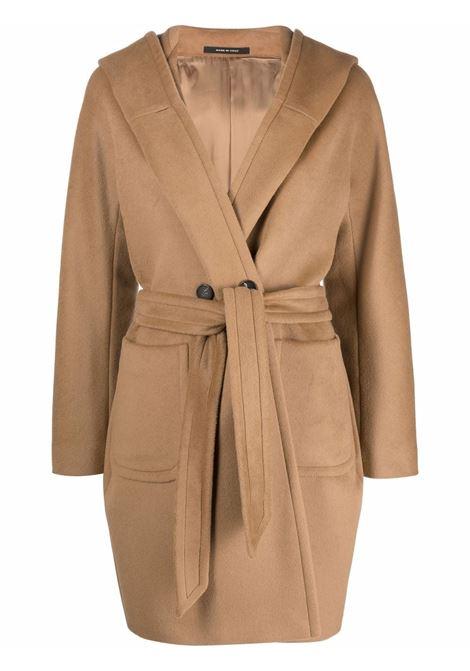 Cappotto con cappuccio e cintura in vita colore marrone - donna TAGLIATORE | CHELSEYD70004A1137