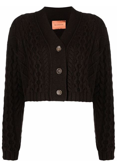 Cardigan a due pezzi marrone scuro- donna THE ANDAMANE   20352036WVWP278