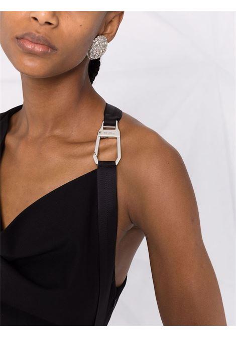 Buckle-detail single-sleeve shift dress in black - women  THE ATTICO   214WCA76W027100