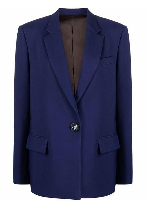 Single-breasted tailored blazer in navy blue - women  THE ATTICO   214WCG25E030184