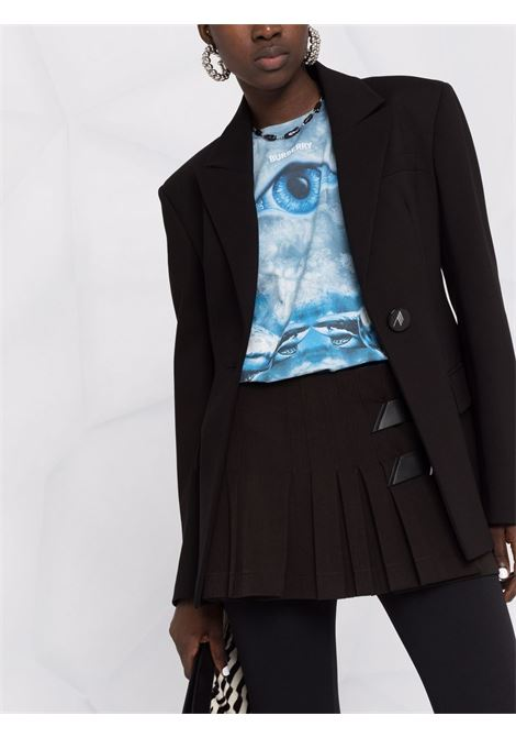 Logo-buckle pleated mini skirt in black - women  THE ATTICO   214WCS60E031100