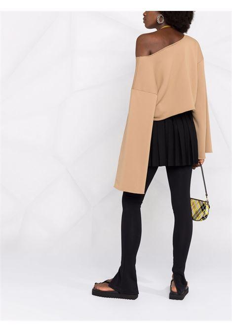 Felpa corta in marrone - donna THE ATTICO | 214WCT59J014046