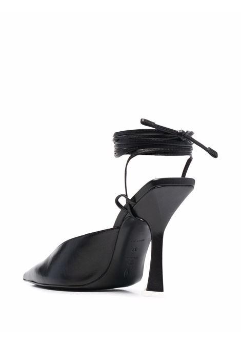 Decollete con cinturino alla caviglia in nero - donna THE ATTICO | 214WS318L001100