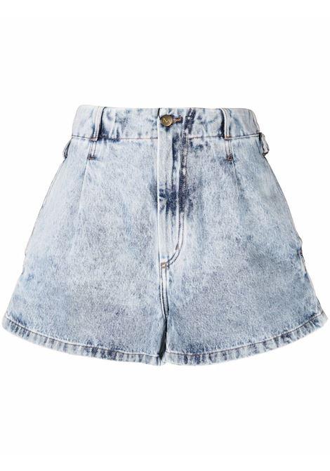 Shorts affusolati blue- donna THE MANNEI | W21TMSAKIBBLJNS