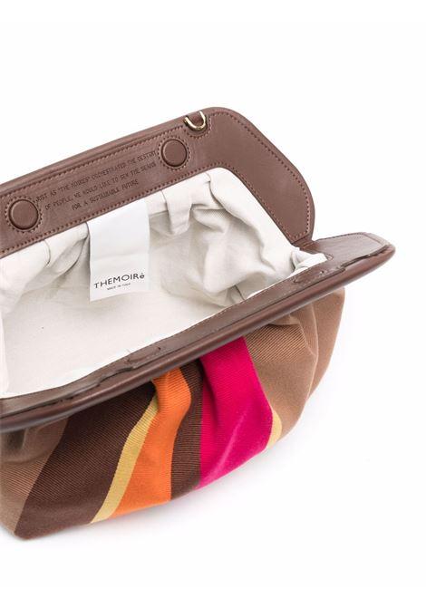 Brown striped bios crossbody bag - women  THEMOIRè | TMPW21BMV30CHCLT