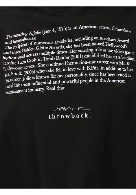 T-shirt con stampa in nero - unisex THROWBACK | TBFEXBLK