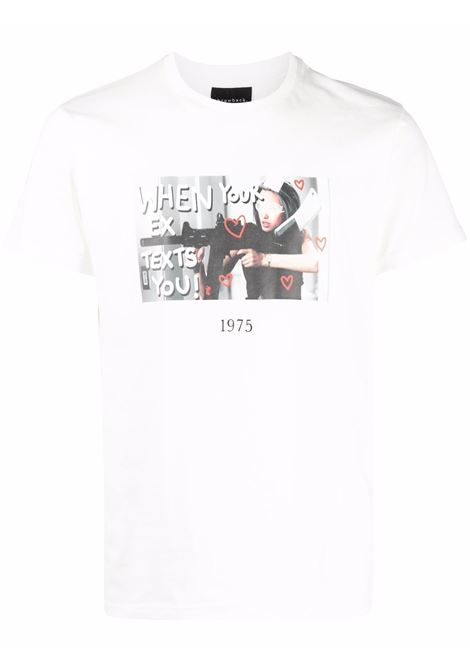 T-shirt con stampa in bianco - unisex THROWBACK | TBFEXWHT