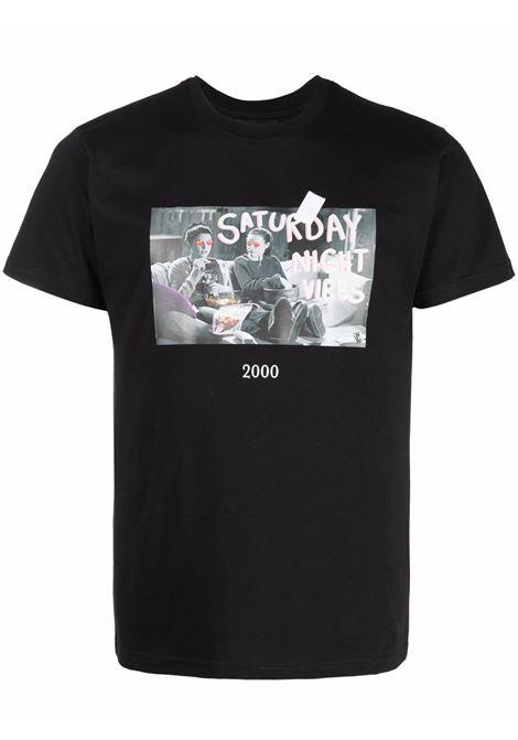 T-shirt con stampa in nero - unisex THROWBACK | TBFGILMOREBLK
