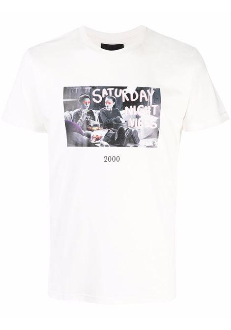 T-shirt con stampa in bianco - unisex THROWBACK | TBFGILMOREWHT