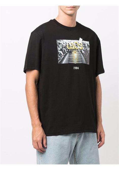 T-shirt Diego con stampa in nero - unisex THROWBACK | TBTDIEGOBLK