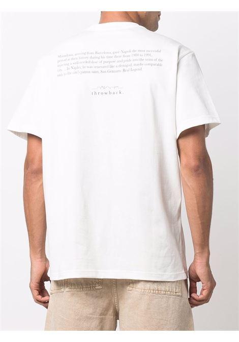 T-shirt Diego con stampa in bianco - unisex THROWBACK | TBTDIEGOWHT