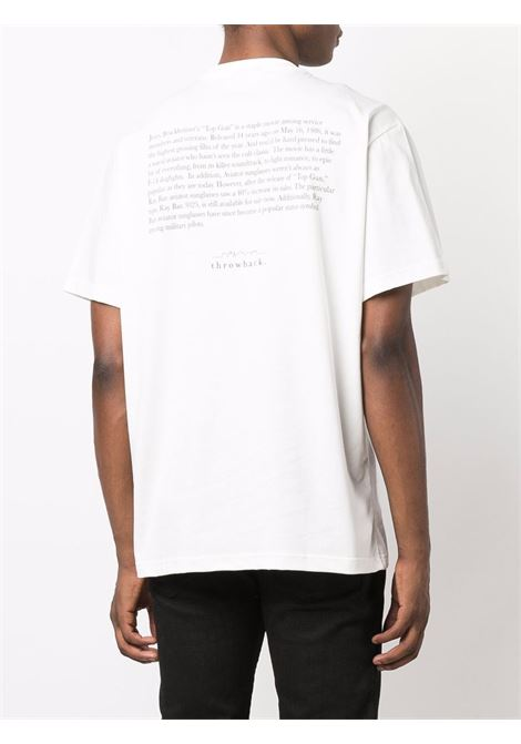 T-shirt con stampa in bianco - unisex THROWBACK | TBTFLYWHT