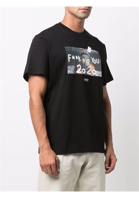 T-shirt Kevin con stampa in nero - unisex THROWBACK | TBTKEVINBLK