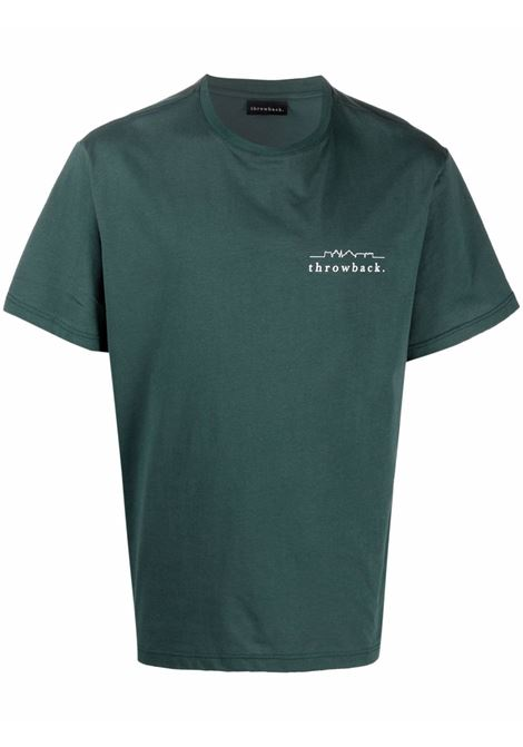 T-shirt con stampa in verde scuro - unisex THROWBACK | TBTLOGOGRN