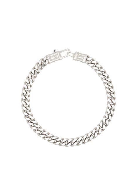 L curb chain bracelet in silver - men TOM WOOD | B13052CBL01S925