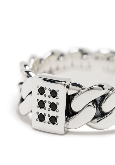 Chain-link ring silver in silver - men TOM WOOD | R46LABSP01S925