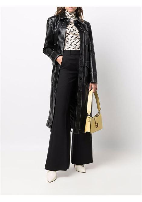 Top a collo alto con stampa floreale in bianco e nero - donna TORY BURCH | 84348110