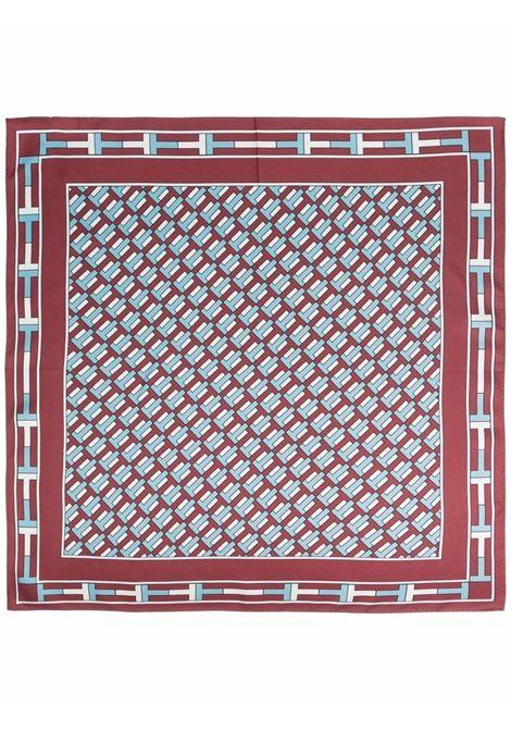 Foulard con ricamo in rosso, blu e bianco - donna TORY BURCH   84606500