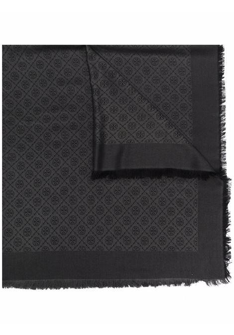 Sciarpa con ricamo in nero - donna TORY BURCH   84660001