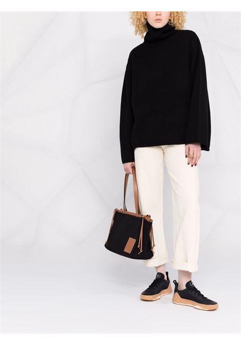 Black oversized rollneck jumper - women TOTEME | 211561754200