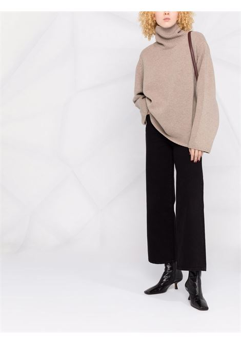 Beige oversized rollneck jumper - women TOTEME | 211561754819