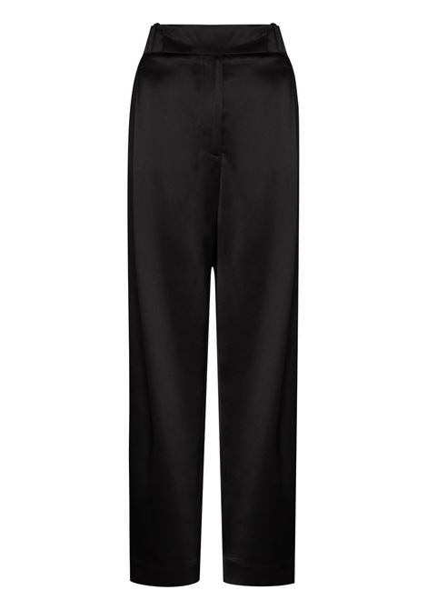High waist tapered trousers black- women TOTEME | 213217714200