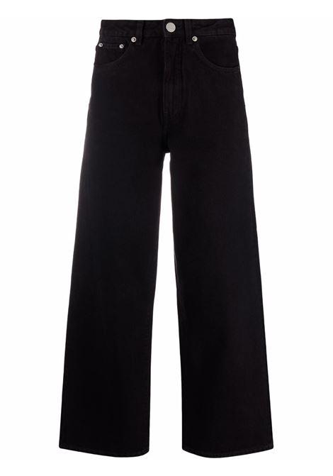 Black wide-lge cropped jeans - women TOTEME | 213230739204