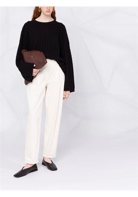Black cable knit jumper - women TOTEME | 213569753200