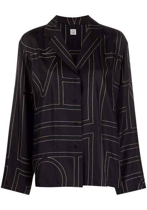 Monogram-print shirt women TOTEME | 213755707925