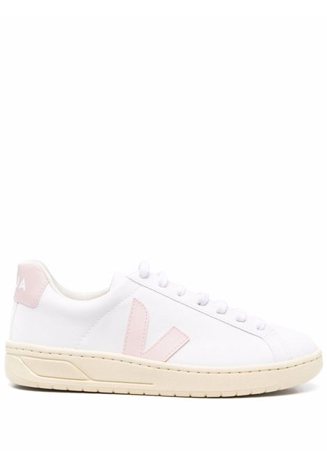Urca logo low-top sneakers in white and light pink - women VEJA   UC072650AWHT