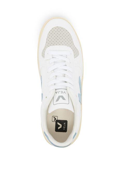 Sneakers V-10 in bianco e blu - donna VEJA | VX072728AWHT