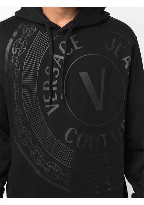 Felpa con cappuccio in nero - uomo VERSACE JEANS COUTURE | 71GAIT13CF00T899
