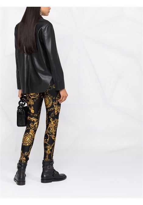 Leggings con stampa Barocco in nero - donna VERSACE JEANS COUTURE | 71HAC101JS008G89
