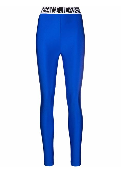 Leggings con logo in blu - donna VERSACE JEANS COUTURE | 71HAC101N0008243