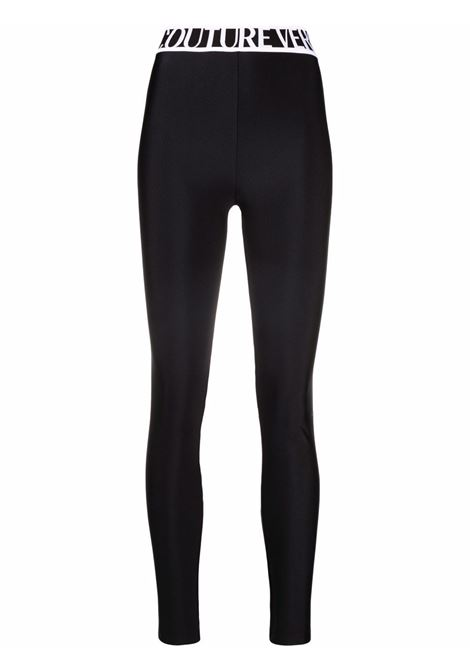 Leggings con logo in nero - donna VERSACE JEANS COUTURE | 71HAC101N0008899