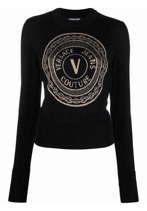 Maglione con stampa in nero - donna VERSACE JEANS COUTURE | 71HAF842CM01MK42