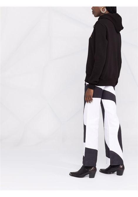 Felpa con logo in paillettes in nero - donna VERSACE JEANS COUTURE | 71HAIG02CF00G899