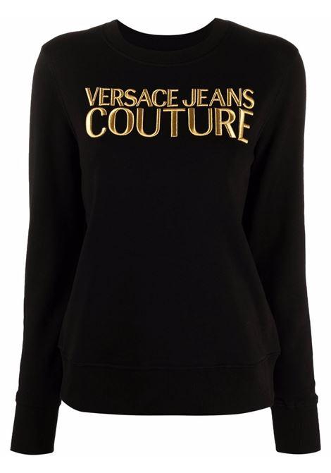 Felpa a girocollo con logo in nero - donna VERSACE JEANS COUTURE | 71HAIT01CF00TG89