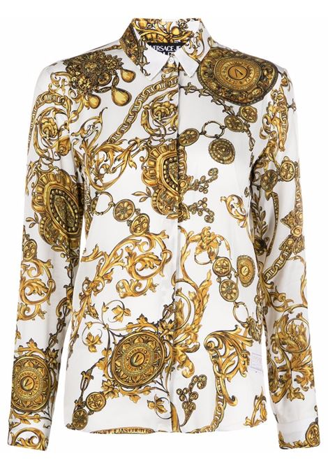 Camicia Regalia Baroque in bianco - donna VERSACE JEANS COUTURE | 71HAL201NS007G03