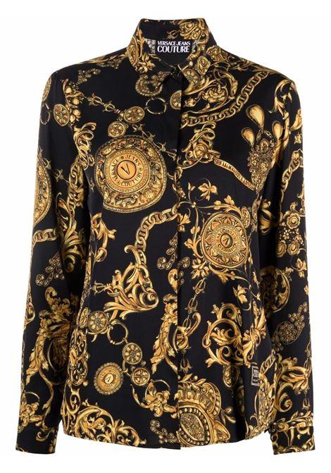 Camicia Regalia Baroque in nero - donna VERSACE JEANS COUTURE | 71HAL201NS007G89