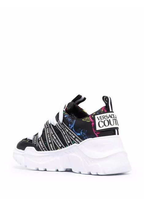 Black Speedtrack Regalia baroque-print sneakers - women  VERSACE JEANS COUTURE   71VA3SC6ZS024899