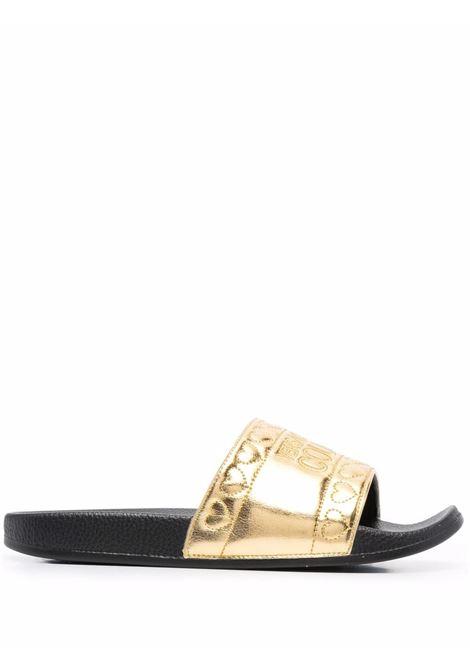 Slides con logo in oro - donna VERSACE JEANS COUTURE | 71VA3SQ4ZS039948