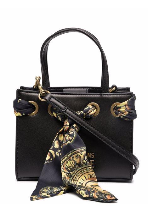 Borsa tote con dettaglio a foulard in nero - donna VERSACE JEANS COUTURE | 71VA4BA7ZS059899